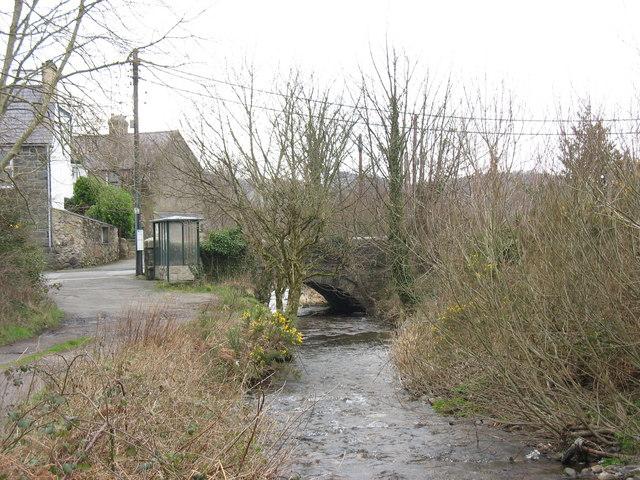 Afon Caledffrwd at Pont Brynrefail