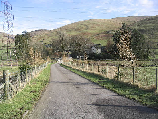 The road to Unthank Farm