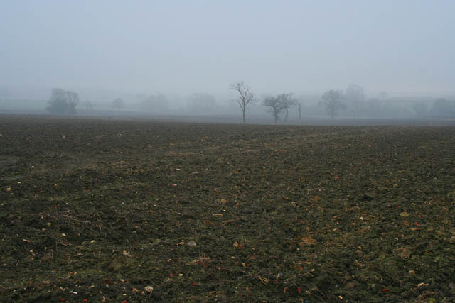 Ploughed field between Old Somerby and Boothby Pagnell