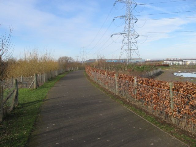 Clyde Walkway and cycleway No75 near Carmyle