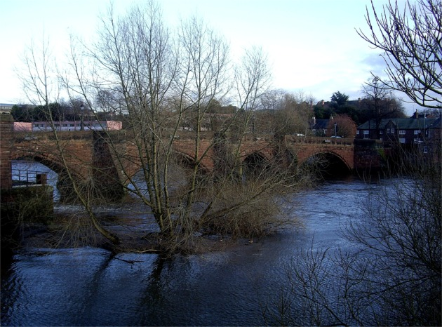 River Dee flowing under The Old Dee Bridge, Chester