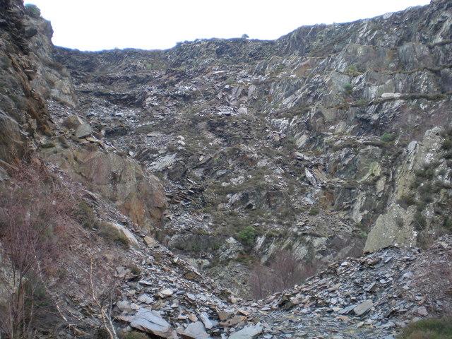 Chwarel Ty'n y Coed Quarry.