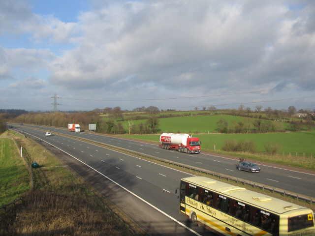 The M6 approaching Carlisle