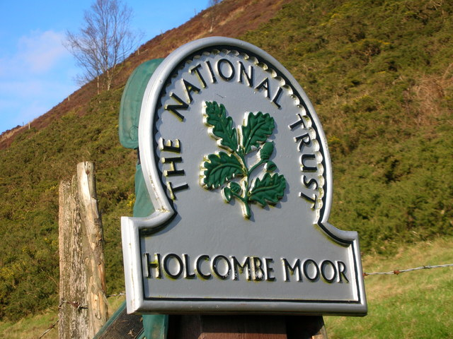 Holcombe Moor NT sign