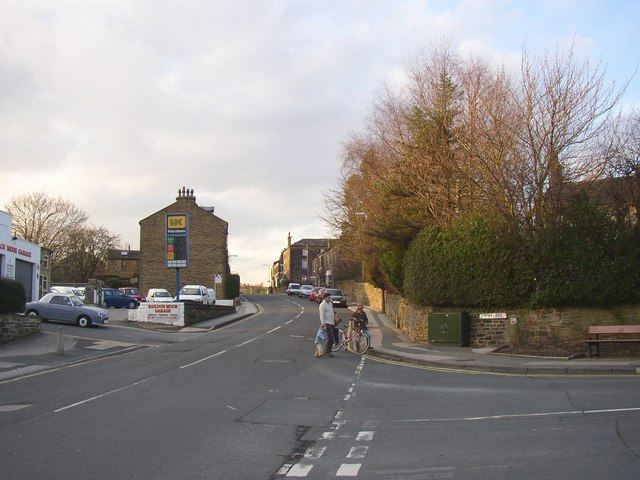 Northgate, looking towards the moor, Baildon