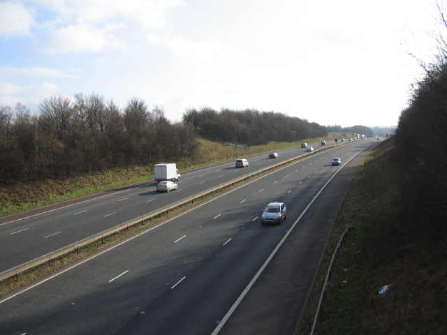 The M6 approaching Junction 41