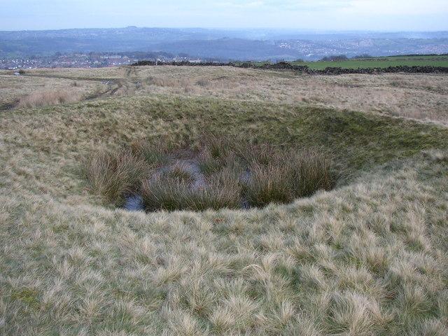 Old coal pit , Baildon Moor