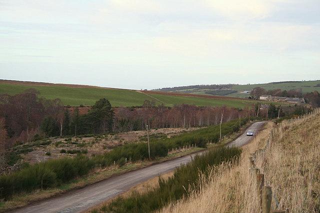 Looking northwards towards Blackhillock Farm.