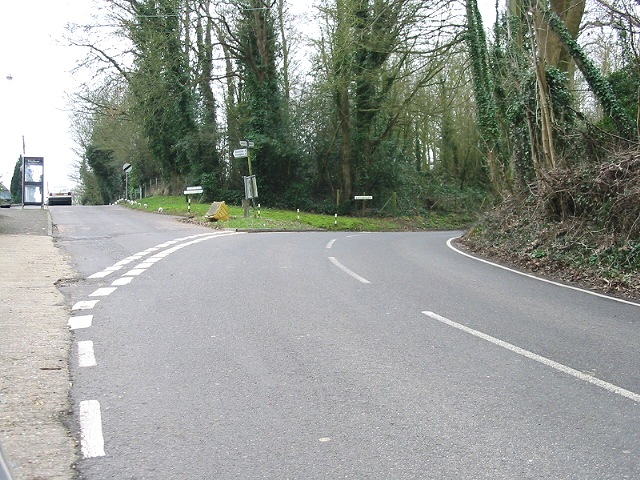 View of junction, Duckpit Road and Broadway
