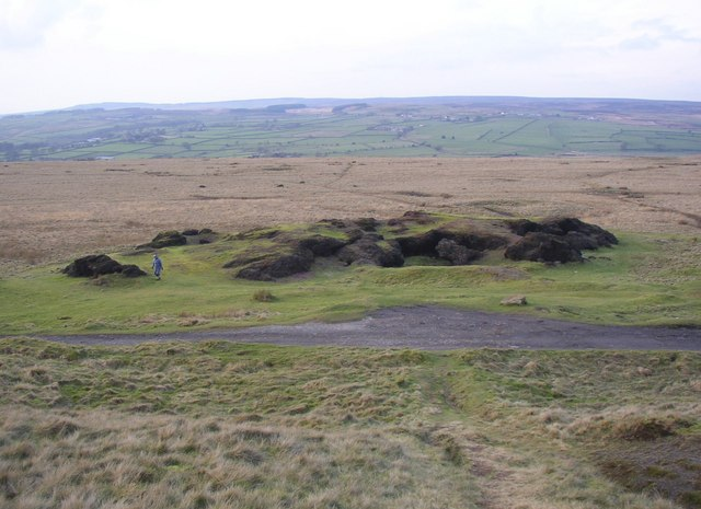 The cinder rocks, Baildon Moor