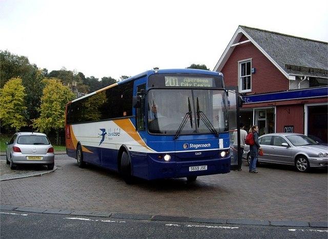 Bus terminus at Braemar