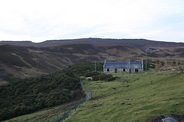 Cottage to the west of Auchness Farm.