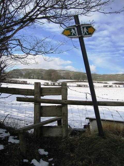 Stile on Footpath near Llanarmon yn Ial