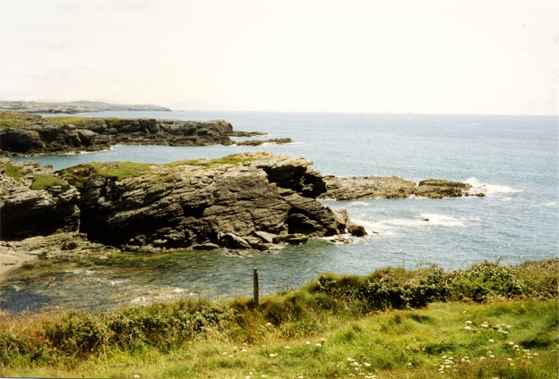 Rocky cove at Porth-y-post, Anglesey