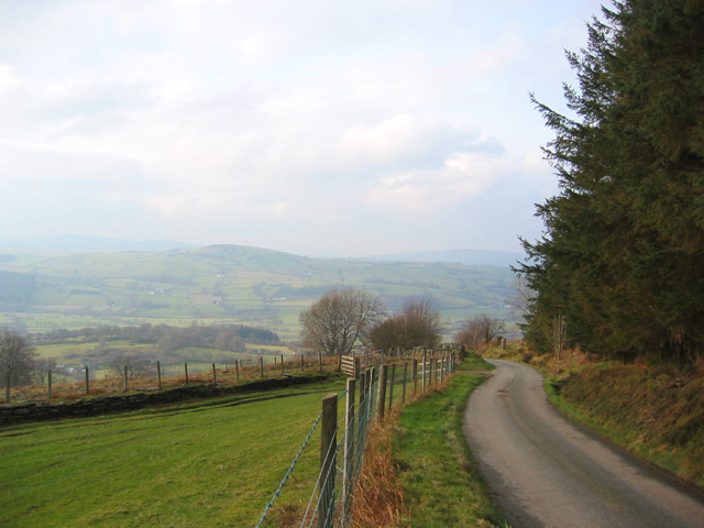 View over Coed Waun-yr-hydd