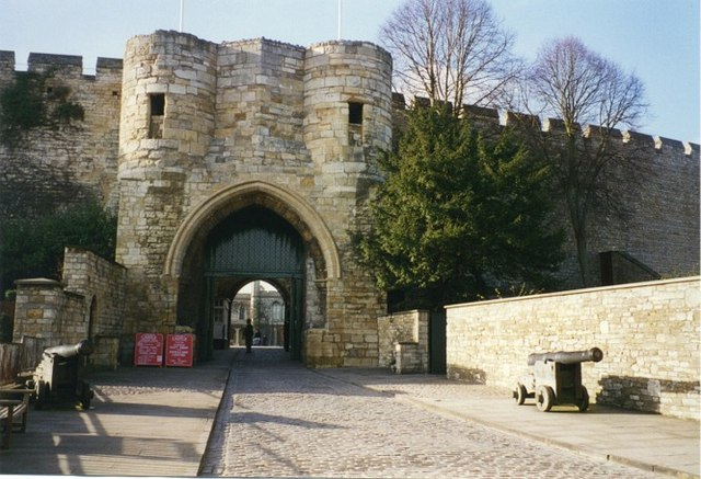 Gate entrance to Lincoln Castle