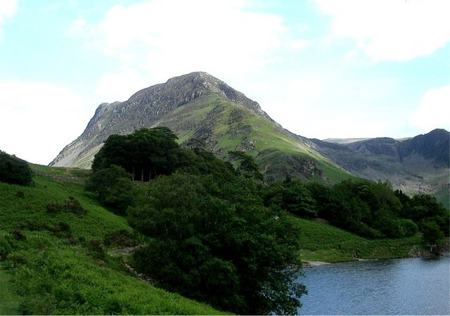 Hillside trees at southeastern end of Buttermere