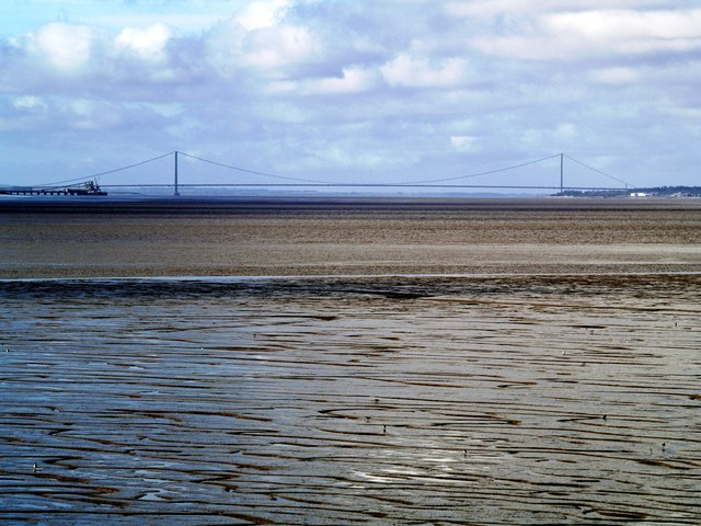 The Humber Bridge from Paull