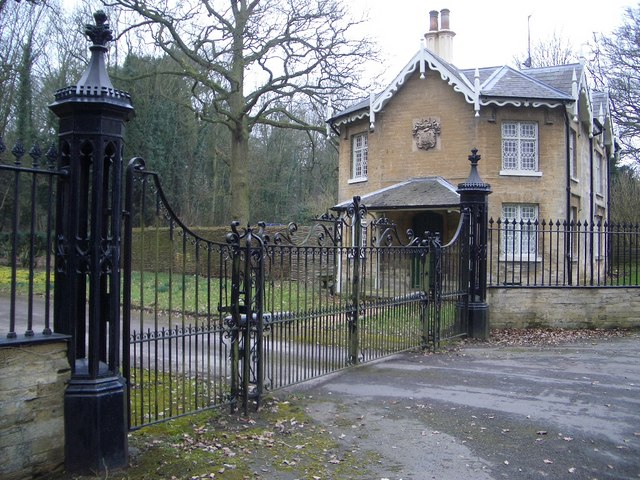 Entrance Gates & Piers at Brayfield Lodge & House