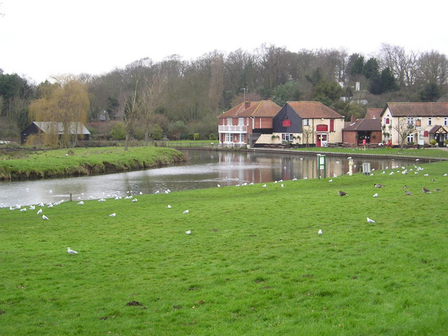 Coltishall Staithe in Winter