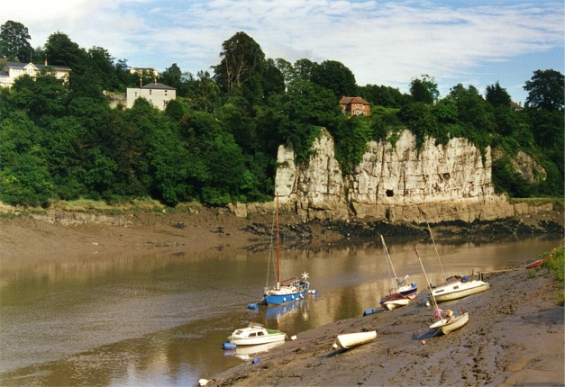 Muddy moorings on River Wye, Chepstow