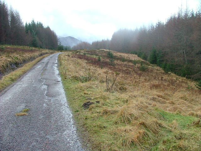 Leanachan Road looking Southwest