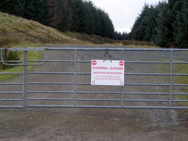 Warning Sign at Gilkercleuch