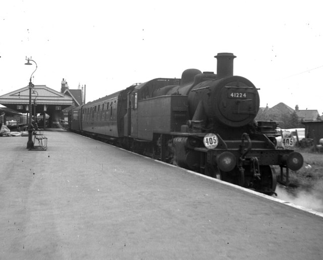 Branch train for Swanage at Wareham, Dorset