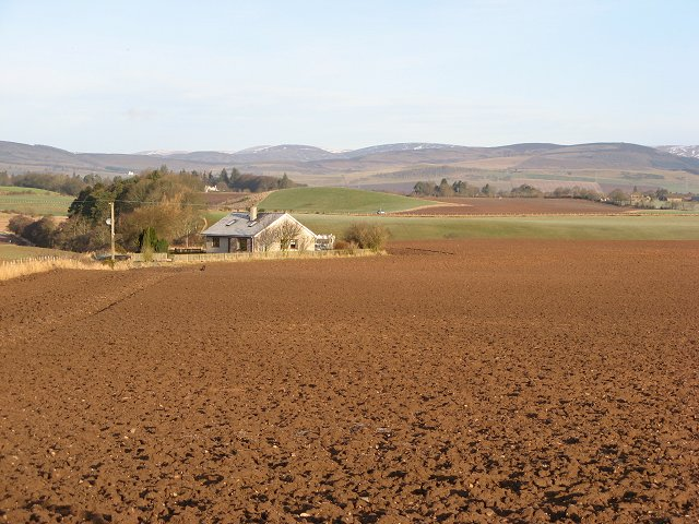 House and ploughed field, Wardmill