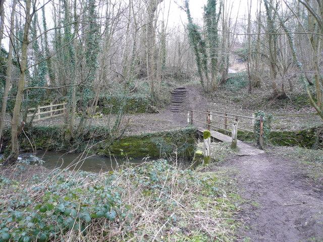 Footbridge over the River Amber