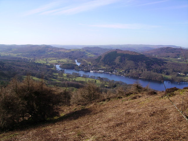 Lakeside from Gummer's How