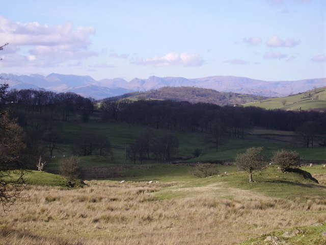 Langdales from above High Fairbank