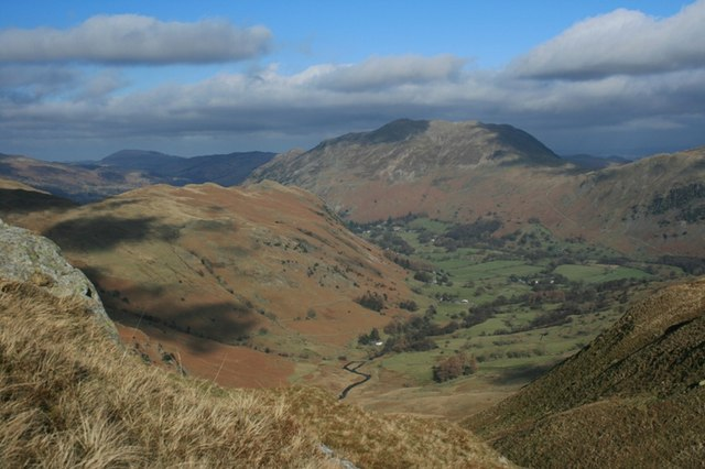 View Down Patterdale From Hoggill Brow
