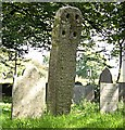SW9859 : Ancient churchyard cross by Tony Atkin