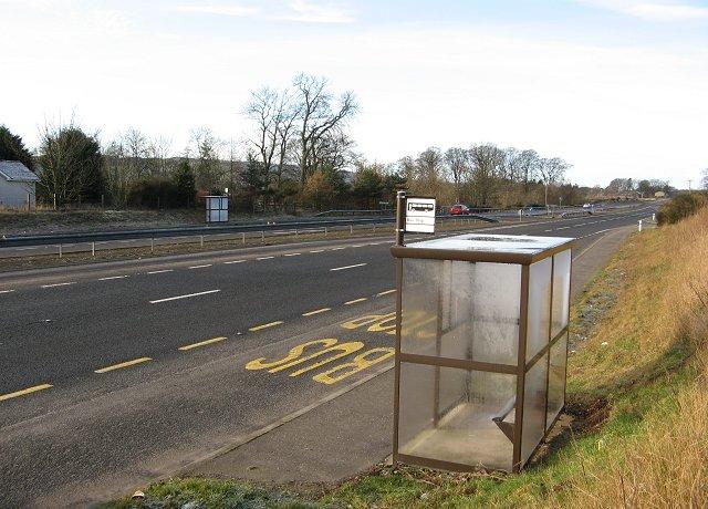 Bus stop, Nether Careston