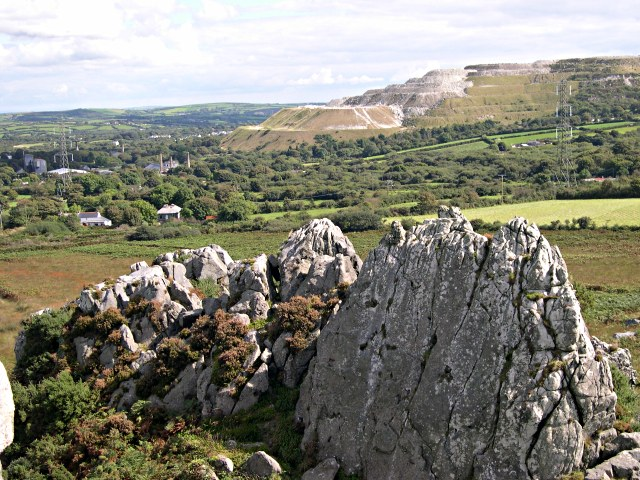 From Roche Rock to the East