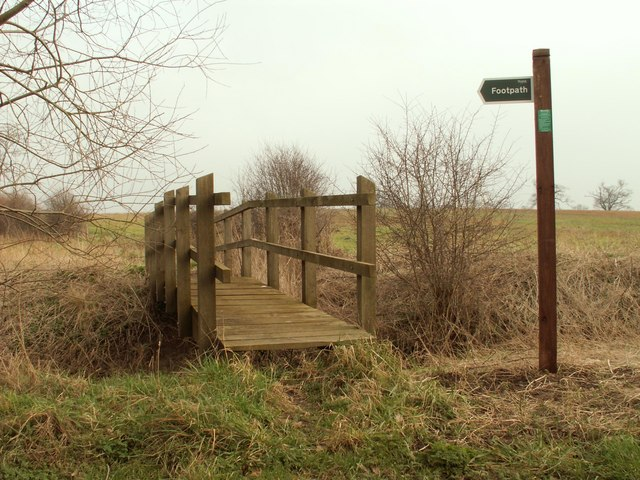 A footbridge for a footpath