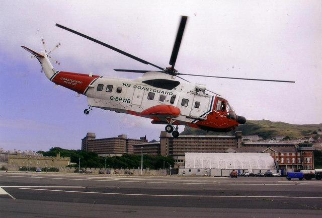 Coastguard helicopter base, Osprey Quay, Portland