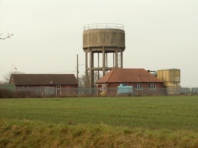 Water Tower, seen from Cranley Green Road