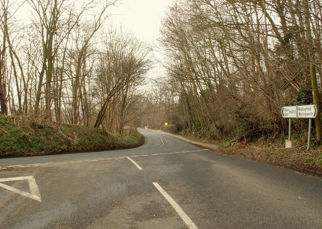 Road junction at Eye
