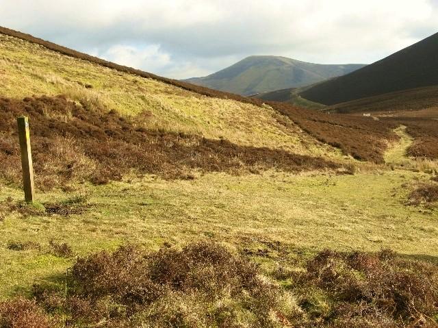 Path through the hills