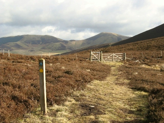 Waymarker on John Buchan Way