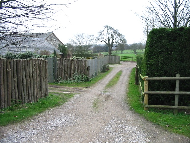 Track through Pear Tree Farm