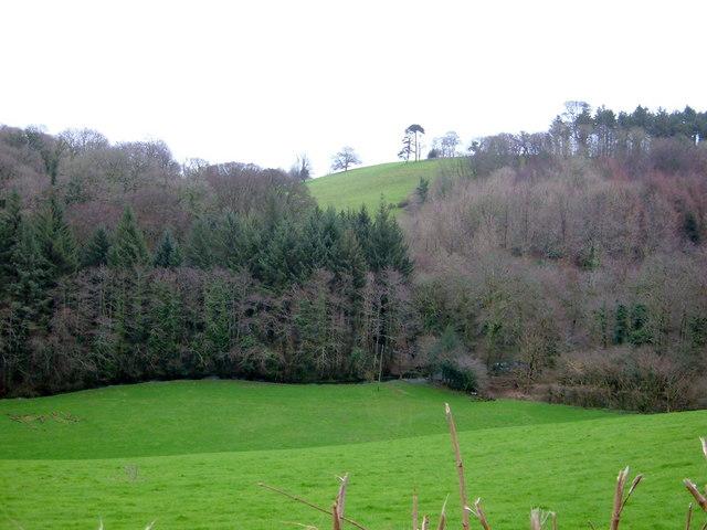 View across valley