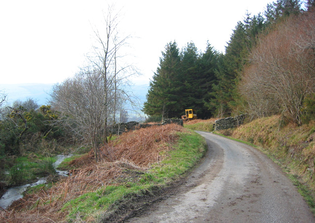 End of the lane to Rhydyglafes