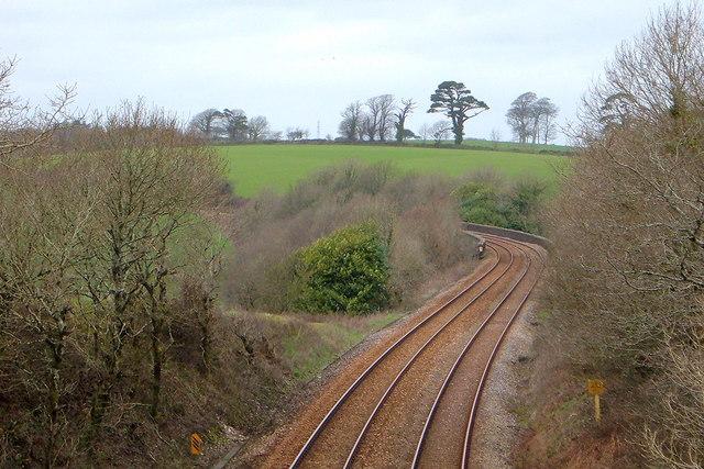 Railway track towards Penzance
