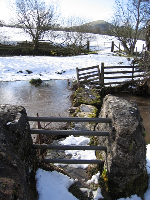 Ancient Stone Clapper Bridge.