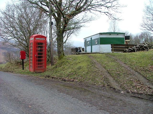 Post Box, Telephone Box and Caravan