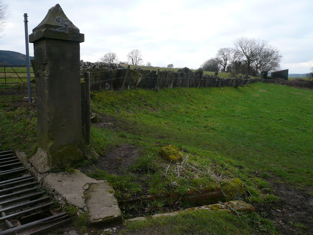 Unusual Slab Fence at the top of Back Lane