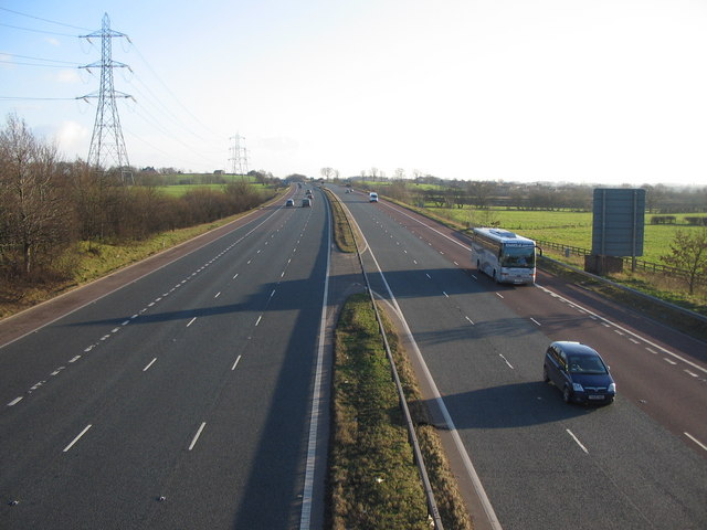 The M6 south of junction 43